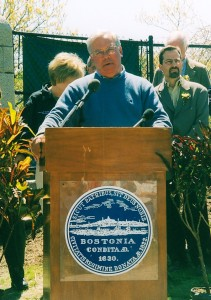 Mayor Tom Menino celebrates the opening of Bussey Brook Meadow